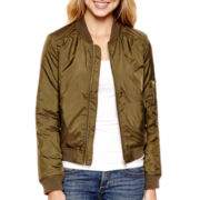 Arizona Long-Sleeve Satin Flight Jacket