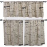 Script Kitchen Curtains