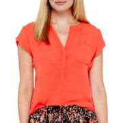 Liz Claiborne® Cap-Sleeve Blouse