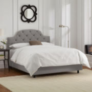 Rothwell Linen Tufted Bed