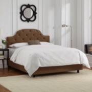 Rothwell Velvet Tufted Bed