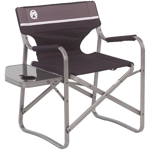 Coleman® Aluminum Deck Chair + Folding Table