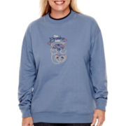 MCCC Sportswear Long-Sleeve Bear Hug Grandma Fleece Sweater - Plus