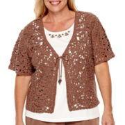 Alfred Dunner® Indian Summer Short-Sleeve Layered Top - Plus