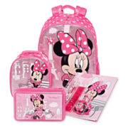 Disney Collection Minnie Backpack, Lunchbox, Notebook or Pencil Box