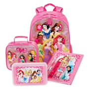 Disney Collection Princess Backpack, Lunchbox, Notebook or Pencil Box