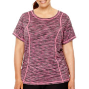Xersion™ Short-Sleeve Space-Dyed T-Shirt - Plus