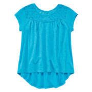 Arizona Lace High-Low Swing Top - Preschool Girls 4-6x