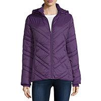 Xersion Water Resistant Lightweight Puffer Jacket Womens Deals