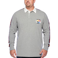 The Foundry Big & Tall Supply Co. Mens Henley Neck Long Sleeve Rugby Shirt Deals
