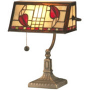 Dale Tiffany Henderson Bankers Accent Table Lamp