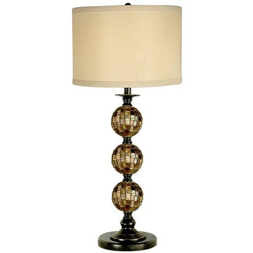 Dale Tiffany™ Mosaic 3-Ball Art Glass Table Lamp