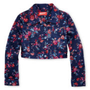Arizona Floral Denim Cropped Jacket - Girls 6-16