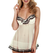 Jezebel Ruffles Galore Chemise and Hipster Panties