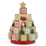 Christmas Traditions Wooden Block Advent Calendar