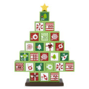 Holiday Glitz Wooden Block Advent Calendar