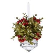 Kissing Krystals Mini Mistletoe Christmas Tree Ornament – Jewel