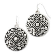 Sensitive Ears Silver-Tone Artisan Circle Earrings