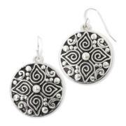 Sensitive Ears Silver-Tone Artisan Circle Earrings