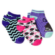 Maidenform® 3-pk. Low-Cut Socks - Girls