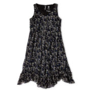 Total Girl® Sleeveless Ruffle-Bottom Dress - Girls 7-16