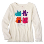 Okie Dokie® Long-Sleeve Ribbed Tee - Girls 2t-6