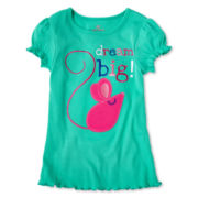 Okie Dokie® Short-Sleeve Ribbed Tee - Girls 2t-6