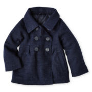 Carter's® Navy Pea Coat - Girls 12m-24m