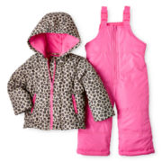 Carter's® Pink Cheetah-Print Snowsuit - Girls 12m-24m