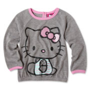 Hello Kitty® Long-Sleeve Raglan Sweater - Girls 2t-6