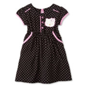 Hello Kitty® Empire Waist Challis Dress - Girls 2t-6