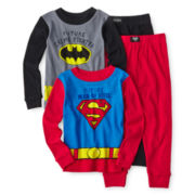 Superhero 4-pc. Pajama Set- Boys 2t-4t