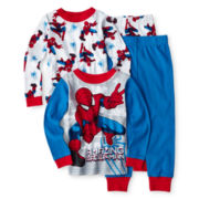 Spider-Man® 4-pc. Pajama Set - Boys 2t-4t
