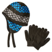 Berkshire Peruvian Hat and Glove Set - Boys One Size