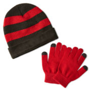 Berkshire Reversible Roll-Cuff Hat and Gloves Set - Boys One Size
