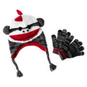 Critter Hat and Glove Set - Boys One Size