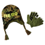 Attitude Hat and Glove Set - Boys One Size
