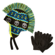 Berkshire Mohawk Hat and Glove Set - Boys One Size