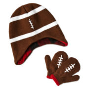 Football Hat and Gloves Set - Boys One Size