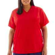 Jockey Short Sleeve Zipper Top - Plus