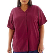 Fundamentals Women's Snap-Front Scrub Top