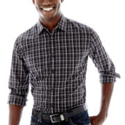 JF J. Ferrar® Long-Sleeve Plaid Woven Shirt