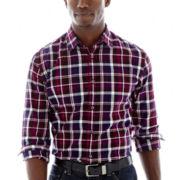 JF J. Ferrar® Long-Sleeve Plaid Woven Shirt