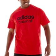 adidas® Linear Baseball Tee-Big & Tall