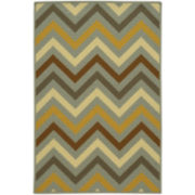 Zigzag Multicolor Washable Rectangular Rug