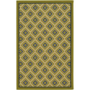 Small Diamond Washable Rectangular Rug