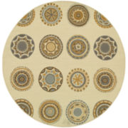 Medallion Indoor/Outdoor Round Rug