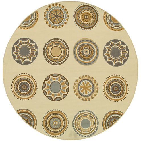 Covington Home Medallion Indoor/Outdoor Round Rug