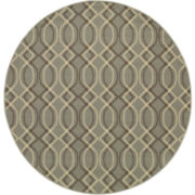 Air Waves Indoor/Outdoor Round Rug