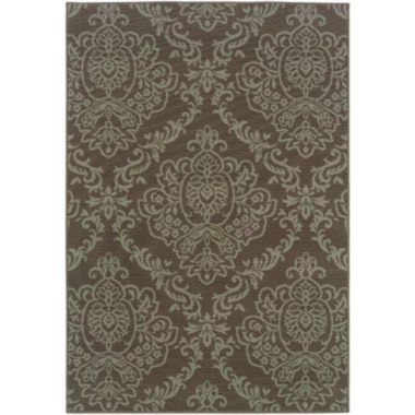 jcpenney.com | Covington Home Damask Indoor/Outdoor Rectangular Rug